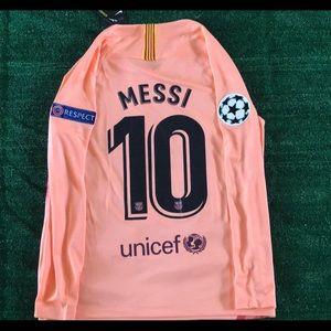 the best attitude 377e3 62747 Barcelona Messi Long Sleeve Third Away Jersey NWT